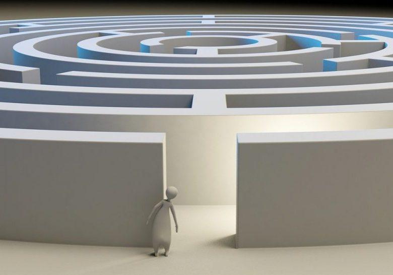 maze, labyrinth, solution
